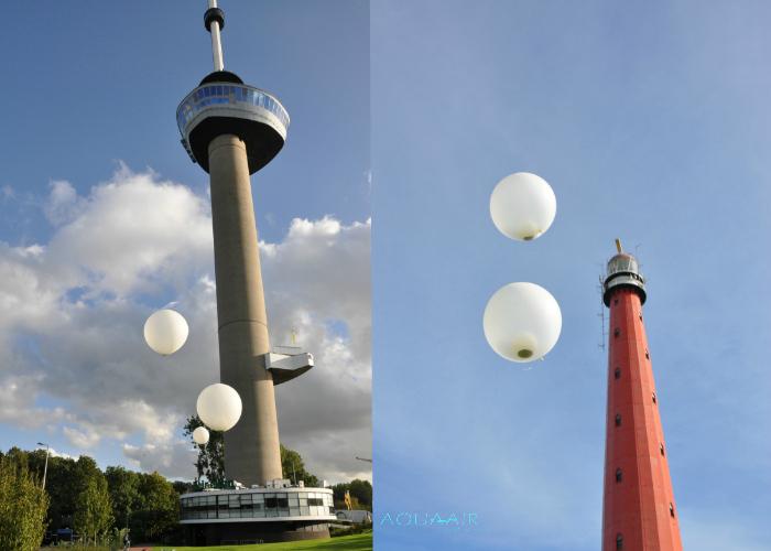 Ballonverstrooiing asverstrooiing per ballon op unieke locaties