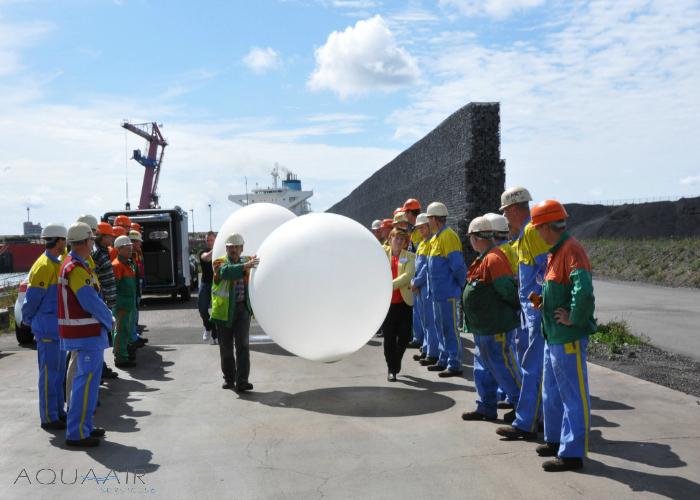 Ballonverstrooiing ceremonie bij Tatasteel